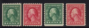 410 - 413 Set VF+ original gum mint never hinged nice color cv $ 220 ! see pic !