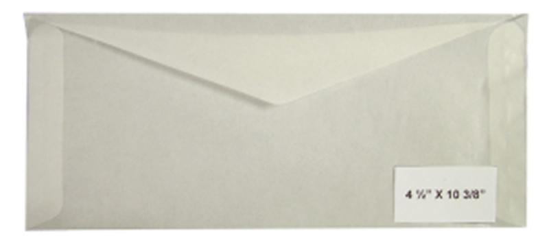 500 count - Glassine Envelopes #11 - ACID FREE - size 4 1/2 x 10 3/8 - NEW