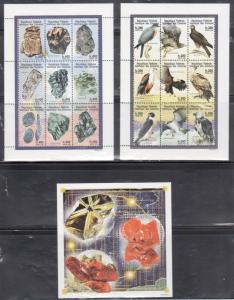Comoros 927A-932 Minerals, Dinosaurs, Birds and Mushrooms Mint NH
