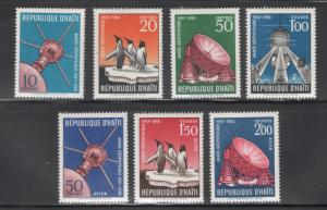 Haiti 1959 International Geophysical Year Scott # 424 - 427, C119 - C121 MNH