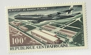 Central African Republic #C44 MNH CV$2.25 Bangui Airport/DC8F