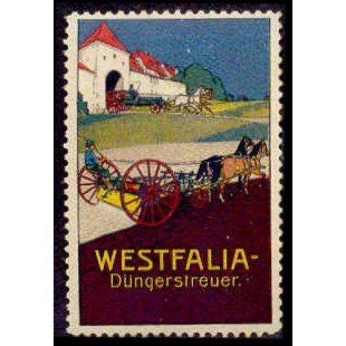 Germany WESTFALIA Manure Spreader Adv Poster Stamp (#2)