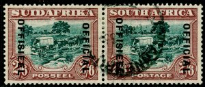 SOUTH AFRICA SGO18, 2s 6d green & brown, FINE USED. Cat £170.