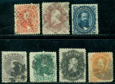 Brazil #53--60  Used  F-VF  CV$104.90  #56 Mint and No Gum