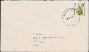 FIJI 1975 cover to Suva ex WAYA - YASAWA cds in violet.....................54510