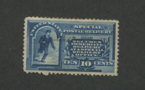 1885 US Special Deliver Stamp #E1 Mint Hinged Very Fine Original Gum