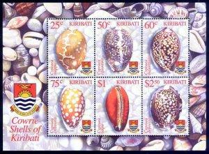 HERRICKSTAMP KIRIBATI Sc.# 824a Cowrie Shells S/S
