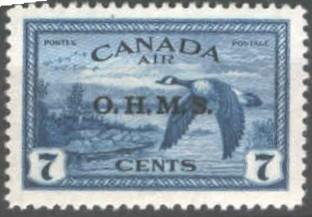 Canada 1949 OHMS opt on 7c air SGO171 UM/Never Hinged Mint