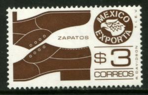 MEXICO Exporta 1171Var, $3P Shoes Dark Brown Wmk Paper 2 MNH