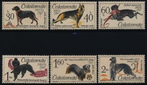 Czechoslovakia 1312-7 MNH Dogs