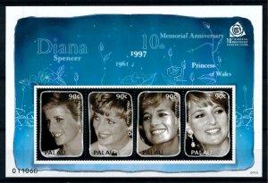 [101316] Palau 2007 Royalty Princess Diana Sheet MNH