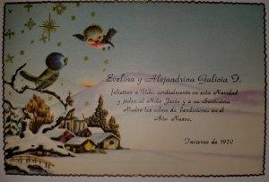 O) POSTAL CARD CHRISTMAS - WINTER - BIRDS AND LANDSCAPE, XF