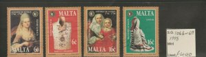 MALTA 1998 SG1066-1069 TREASURES OF MALTA - COSTUMES AND PAINTINGS FINE USED