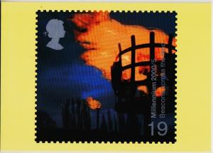 Great Britain. 2000 Fire and Light. PHQ Cards(4) Unused