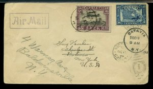 RARE Chinese 45c combo with Canadian 12 cent Confed 1932 Canada Cover