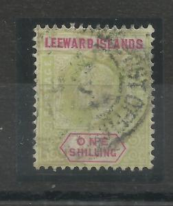 Leeward Is, 1902 Sg 26, 1/- Green & Carmine, Average used Filler. {C/W 342}.