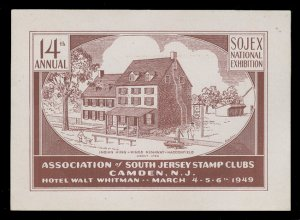 SOJEX 1949 (14th) Stamp Show - MINT, Never Hinged, F-VF or Better