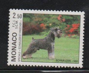 Monaco Sc 1751 1991 Dog Show stamp  mint NH