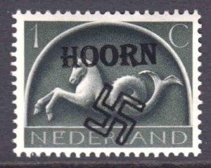 NETHERLANDS 245 LOCAL HOORN GERMANY OCCUPATION OVERPRINT OG NH U/M VF