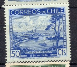 Chile 1936 Anniversary Issue Mint hinged Shade of 50c. NW-12987