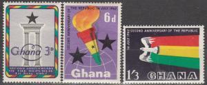 Ghana  #121-3  MNH (S659)