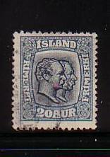Iceland Sc107 1915 20 aur 2 kings stamp used
