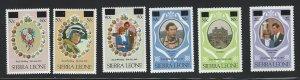 Sierra Leone mnh  sc 540 - 545