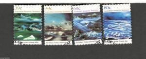 1989 Australian Antarctic Territory SC #L77-80 SIR SIDNEY NOLAN Paintings Θ used