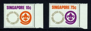 SINGAPORE MALAYSIA 1974 Ninth Asian-Pacific Scout Conference SG 233 & 234 MNH