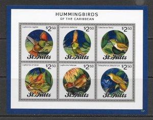 BIRDS - ST KITTS #862  HUMMINGBIRDS    MNH