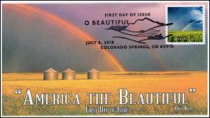 18-182, 2018, O' Beautiful, First Day Cover, Pictorial Postmark, Wheat Field KS