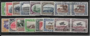 SOUTH WEST AFRICA SG74/87 1931 DEFINITIVE SET USED