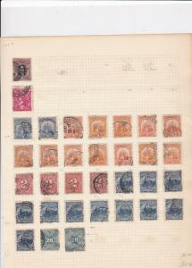 Uruguay Stamps on album page Ref 15593