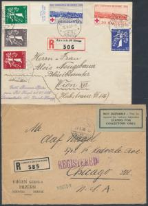 (2) SWISS REGISTERED COVERS BS4580