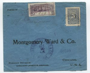 c1909 Colombia F21 registered cover to USA [f821.103]