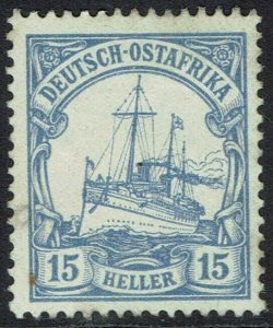 GERMAN EAST AFRICA 1905 YACHT 15H NO WMK