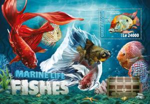 Sierra Leone MNH S/S Fish Marine Life 2016