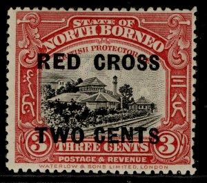 NORTH BORNEO GV SG216, 3c + 2c rose-red, M MINT. Cat £14.