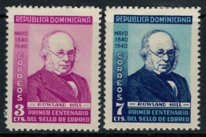 Dominican Republic #356-7*  CV $10.00  Rowland Hill, inventor of the stamp