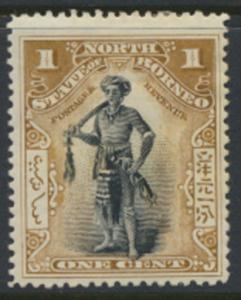 North Borneo  SG 93a   MH   perf 15     please see scans & details