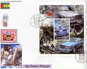 St.Thomas and Prince 2004 Bentley 85th.Anniv.Continental R/Eight S/S FDC