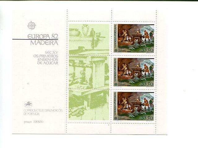 Portugal  Madeira 1982 Europa mini sheet   Mint VF NH