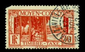 Middle Congo 1933 #J27 U** SCV(2018)=$2.10