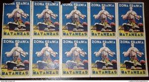 O) 1936 CUBA-CARIBBEAN, SPANISH ANTILLES, CINDIRELLA - VIÑETA, ZONA FRANCA,