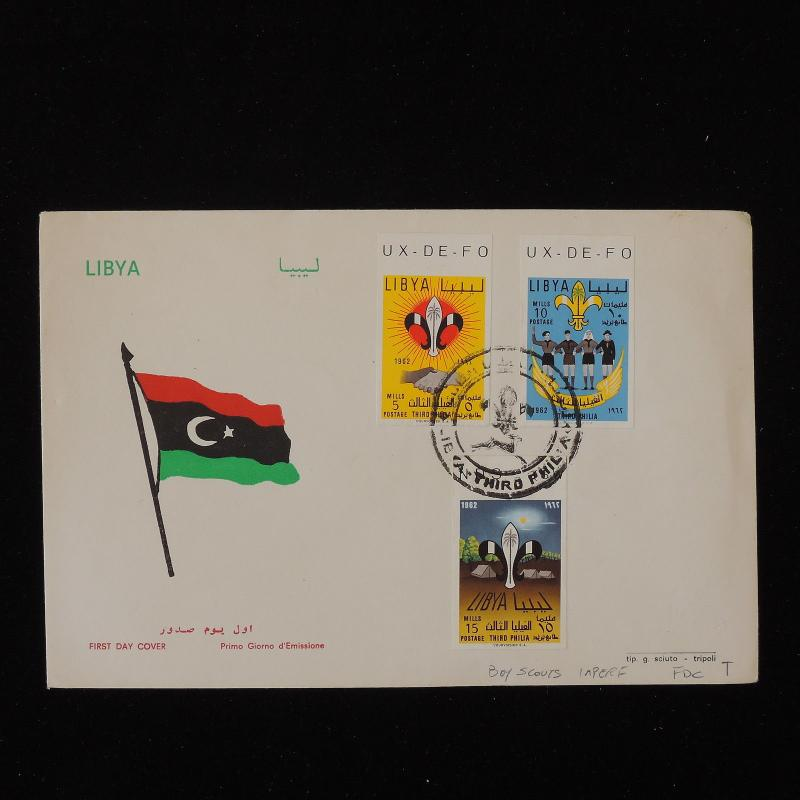 ZS-Y544 BOY SCOUTS - Libya, 1962, Fdc, Imperf. Stamps, Great Franking Cover