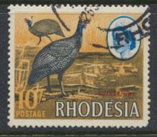 Rhodesia   SG 406  Guinea Fowl Litho Printing  see details