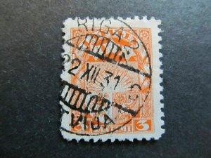 A4P25F20 Latvia Lettonia Lettland 1927-33 Wmk Mult Swastikas 3s used