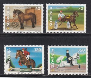 Slovenia # 353-356, Horses, NH, 1/2 Cat.