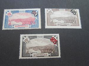 French Martinique 1923 Sc 111-113 set MH
