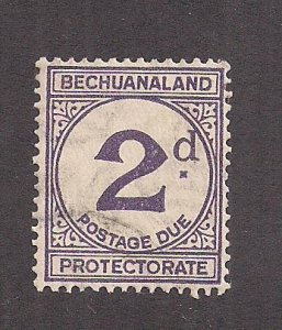 BECHUANALAND PROTECTORATE SC# J6a   F/CTO  1926